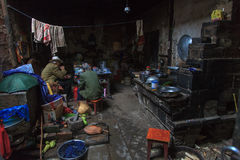 Interior of a house in the slums Stock Images