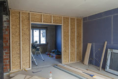 Interior of a house under construction. Renovation of an apartme. Nt royalty free stock photo