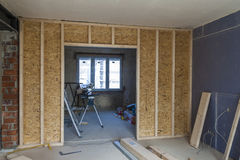 Interior of a house under construction. Renovation of an apartment stock photo