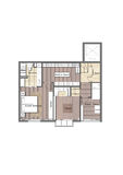 Interior Housing Plan  Royalty Free Stock Image