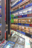 Interior of the HQ Mart one of the biggest mall selling electronic devices in Shenzhen. Royalty Free Stock Photo