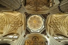Interior of hte Cathedral in Salamanca Royalty Free Stock Photo