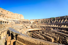 Interior of huge Colosseum, Italy Royalty Free Stock Images
