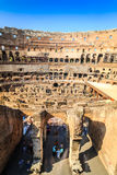 Interior of huge Colosseum, Italy Royalty Free Stock Image