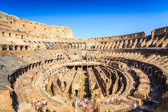 Interior of huge Colosseum, Italy Royalty Free Stock Photos
