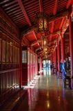 Interior of Hung To Mieu Temple of the Resurrection inside the citadel. Hue Imperial City, Vietnam stock photo