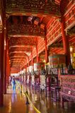 Interior of Hung To Mieu Temple of the Resurrection inside the citadel. Hue Imperial City, Vietnam royalty free stock photo