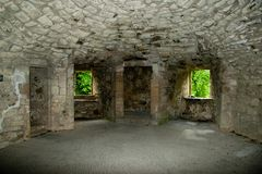 Interior Of Huntly Castle Stock Photos