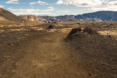 Interior of Iceland. Volcanic landscape. Royalty Free Stock Photography