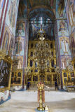 Interior with the iconostasis in the assumption Cathedral of the Trinity-Sergius Lavra, Sergiev Posad Royalty Free Stock Photo