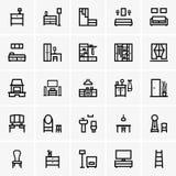 Interior icons stock illustration