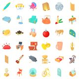 Interior icons set, cartoon style. Interior icons set. Cartoon style of 36 interior vector icons for web isolated on white background Stock Photo
