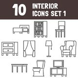 Interior Icons Set 1 - msidiqf vector illustration