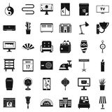 Interior icons set, simple style. Interior icons set. Simple style of 36 interior vector icons for web isolated on white background Royalty Free Stock Photography