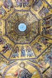 Interior of Il Duomo Cathedral. Florence, Italy, June 13, 2015: Interior of Il Duomo Cathedral, with magnificent art work on the ceiling, Florence, Italy stock photos