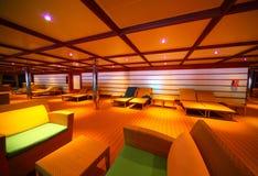 Interior of illuminated hall on cruise ship Royalty Free Stock Photography