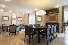 Interior ilusório do apartamento, o espaço para refeições Fotos de Stock Royalty Free