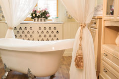 Interior images of bathroom in classic style Stock Image