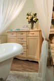 Interior images of bathroom in classic style Royalty Free Stock Image