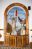 Interior images of Church of Our Lady Carmen in Guatape Stock Photo
