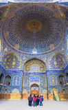 Interior of Imam Mosque in Isfahan Stock Photos
