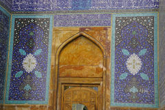 Interior of the Imam Mosque viewed from the entrance in Isfahan, Stock Images