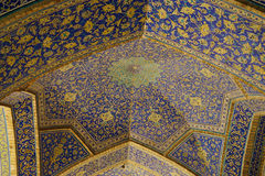 Interior of the Imam Mosque viewed from the entrance in Isfahan, Stock Image