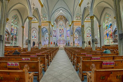Interior of Immaculate Conception Catholic Church in Jacksonvill Royalty Free Stock Photos