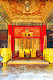 Interior imperial palaces and pavilions of the Forbidden City in Royalty Free Stock Images