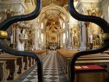 Interior impresionante de Wilten Abbey Basilica, Innsbruck Imagen de archivo