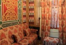 Interior impressionante da sala de fumo turca cuidadosamente restaurada, Victoria Mansion, Portland, Maine, 2016 foto de stock royalty free