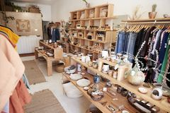 Interior Of Independent Gift And Fashion Store Without Customers stock photo