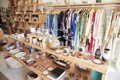 Interior Of Independent Gift And Fashion Store Without Customers royalty free stock image