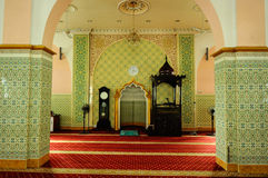 Interior of The India Muslim Mosque in Ipoh, Malaysia Stock Photo