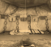 Interior Of The Indian Tent Royalty Free Stock Photos