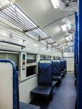 Interior indio del tren de pasajeros Nuevo coche general Imágenes de archivo libres de regalías