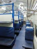 Interior indio del tren de pasajeros Nuevo coche general Fotos de archivo