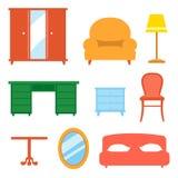 Interior indoor living room design elements set Stock Images