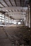 Interior industrial abandonado Foto de archivo libre de regalías