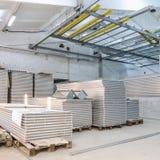 Interior of industrial building under construction Stock Photos