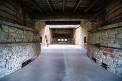 Interior industrial da construção velha da fábrica Fotografia de Stock