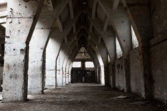 Interior industrial del abandono Foto de archivo libre de regalías
