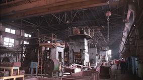 Interior of  industrial factory. stock footage