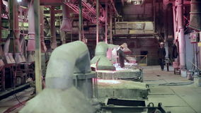 Interior of  industrial factory. stock video footage