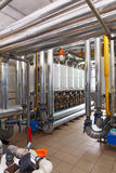 Interior of industrial, gas boiler house with a lot of boilers a. Nd equipment royalty free stock images