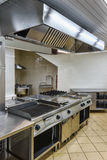 Interior of the industrial kitchen. With cooking facilities Stock Images