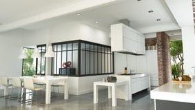 Interior industrial lujoso de la casa del estilo ilustración del vector