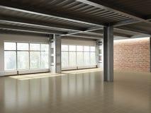 Interior industrial vacío Fotos de archivo libres de regalías