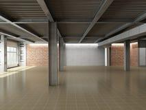 Interior industrial vacío Imágenes de archivo libres de regalías