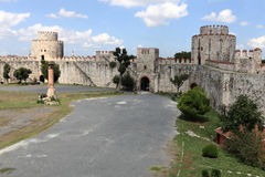 Interior of inner courtyard of Yedikule Fortres Stock Photos